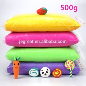 500g/bag 24 colors Magic Ultra Light Air Dry soft Modeling Clay for Kids children