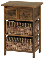 Solid Wooden Cabinet With 3 Basket Drawer Wood Furniture