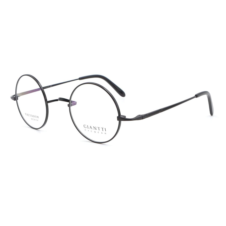 c498a764aec Get Quotations · Retro Round Eyeglass Frame Mens Optical Eyewear Frame  Glasses Pure Titanium
