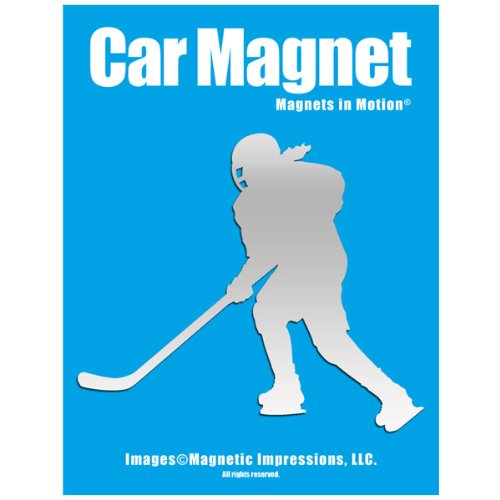 Ice Hockey Player Female Car Magnet