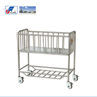 Hospital steel bed and new born baby crib bed