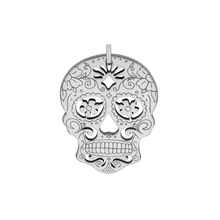 New Fashion Jewelry Sugar Skull Pendant With Flower Wholesale