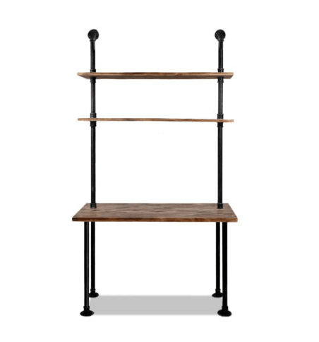 Diy Industrial Retro Wall Mount Iron Pipe Shelf And Working Table Combination Buy Diy Pipes Frame Table Metal Wall Bookshelf Designs Industrial