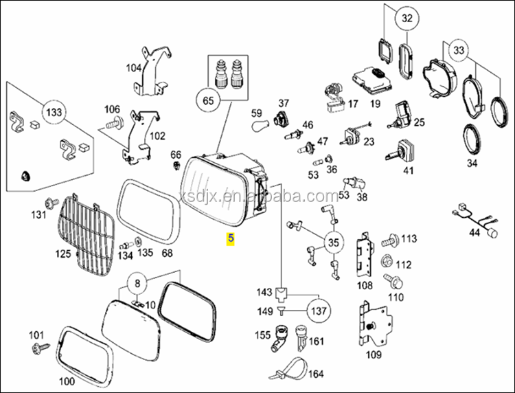 spare parts for mercedes benz actros 3848 head light buy. Black Bedroom Furniture Sets. Home Design Ideas