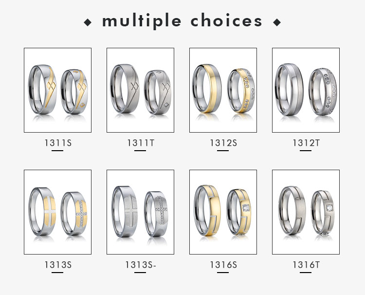 OMD best titanium steel ring engagement ring engraving titanium bridal sets best modern 14k 18k rose gold plated wedding rings