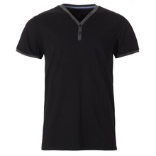 Mens <span class=keywords><strong>t</strong></span>-<span class=keywords><strong>shirt</strong></span> manica corta nero Y-collo <span class=keywords><strong>t</strong></span> <span class=keywords><strong>shirt</strong></span> <span class=keywords><strong>abbottonatura</strong></span> tasto <span class=keywords><strong>t</strong></span> <span class=keywords><strong>shirt</strong></span>