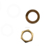 9mm Electric Bass Guitar Nut Washer For Input Output Jack,M9 Gold