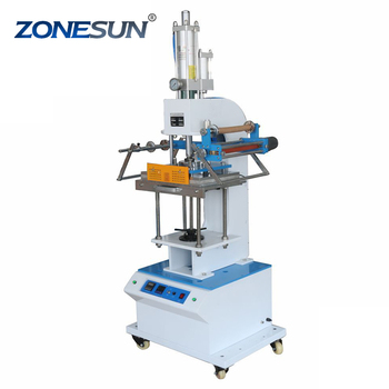 ZONESUN ZY-819Q2 300*400mm Automatic Stamping Machine leather LOGO Creasing machine stamper High speed card Embossing machine
