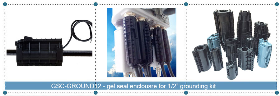 "Gel seal closure for 1/2"" click-on grounding kit"