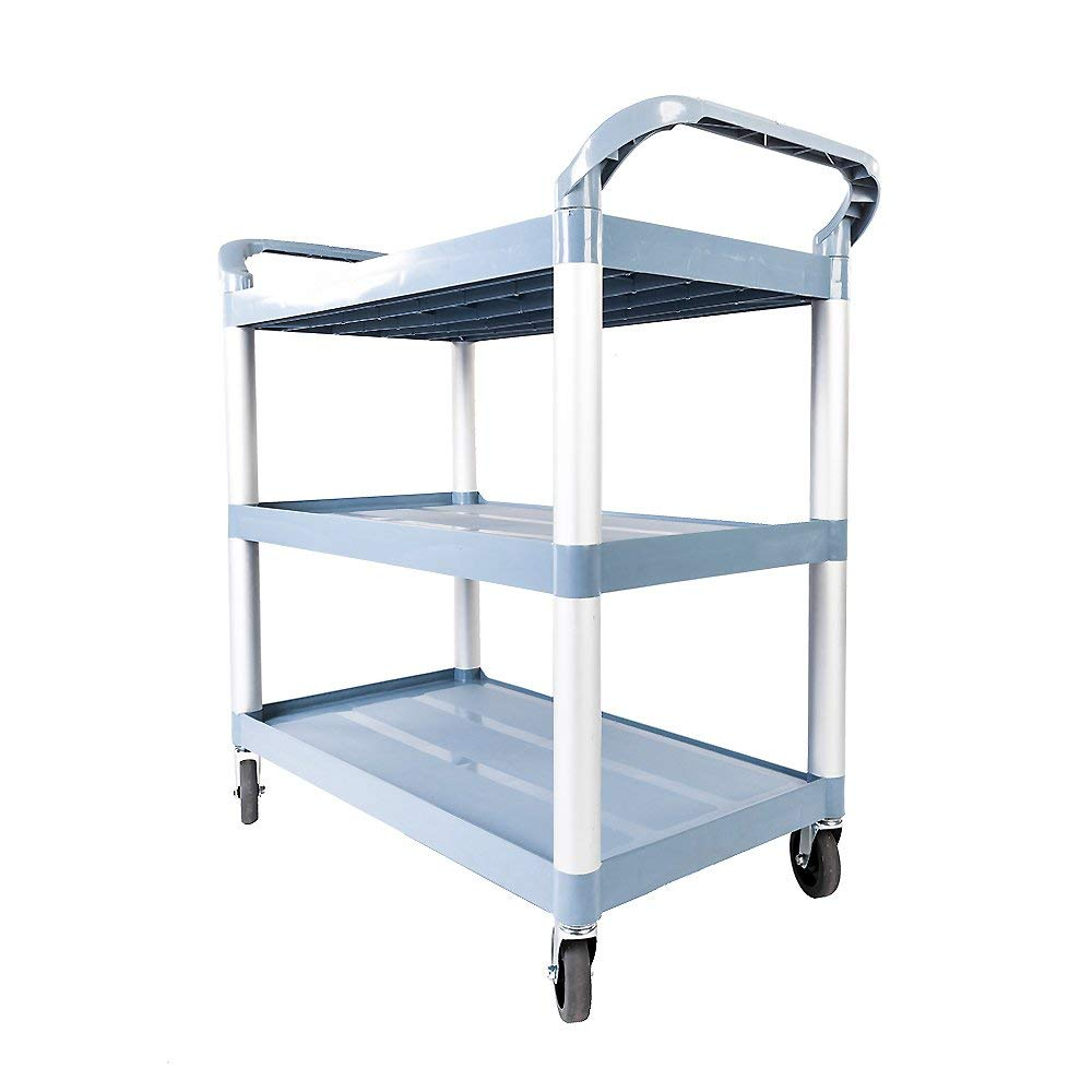 Dhkoawre Portable Three-layer Plastic Cart (Gray)