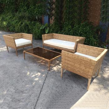 Ordinaire Patio Furniture Used Lawn Wicker Furniture Leather Rattan Balcony Sofa Set