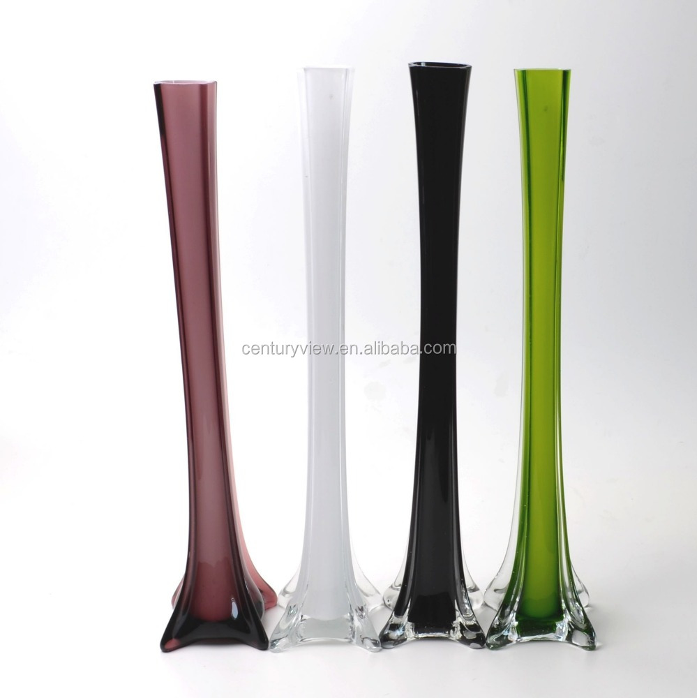 verre tour eiffel longue tige color divers taille fleurs en verre vase vases en verre cristal. Black Bedroom Furniture Sets. Home Design Ideas