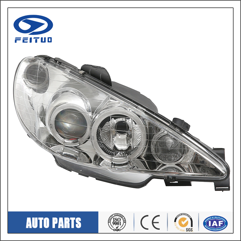 Car accessories top quality car head light For PEUGEOT 206