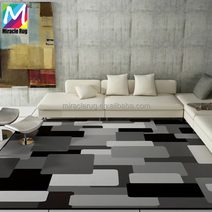 Black White Colour 100% Polyester Printed Carpet Contemporary Rugs Area  Carpets Bedroom Rugs - Buy Bedroom Area Rugs,Contemporary Custom Rugs,Black  ...