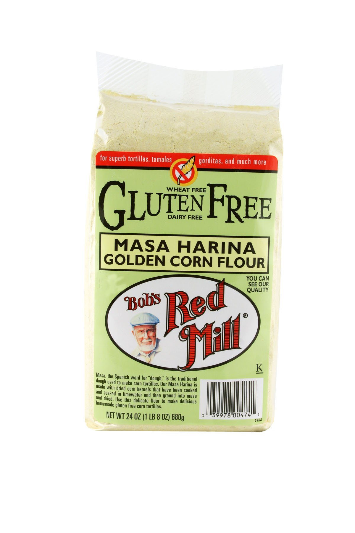 Bob's Red Mill Gluten Free Golden Masa Harina Corn Flour, 24-ounce (Pack of 4)