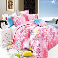 Stock full size pink down alternative comforter