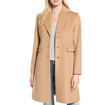 972c8011c4f Europe women s fashion early winter coats with cashmere classic camel wool  blend lined overcoat