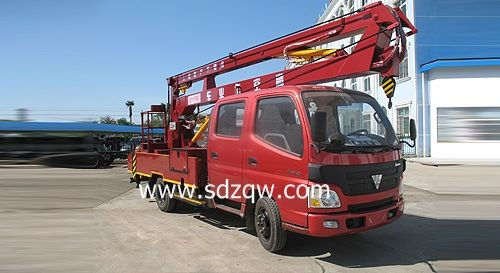 for sale rear double axle truck mounted crane