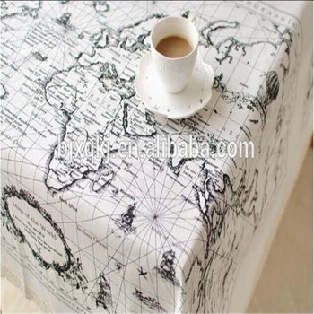 Wholesale linen cotton world map printed fabric for table buy wholesale linen cotton world map printed fabric for table gumiabroncs Images
