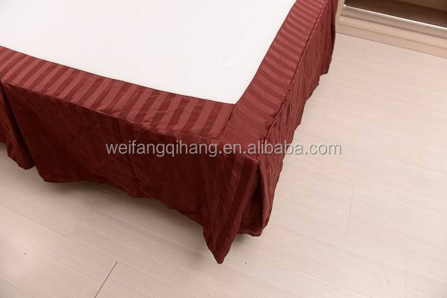 Cheap 100% Polyester Hotel Bed Skirt