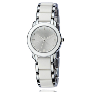Fashion pink color strap stainless steel women's watches