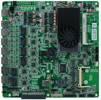 1037Uprocessors motherboard, 6 Gigabit LAN Card mainboard For Router/Firewall