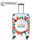 Customized Design Transparent Clear Luggage PC ABS Print Trolley Luggage Case Personalised Design Trolley Luggage