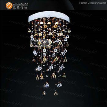 Modern Restaurant Led Crystal Ceiling Light Lobby Pendant Lamp ...