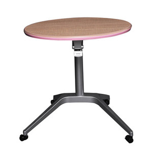 Mini round surface presentation table laptop desk