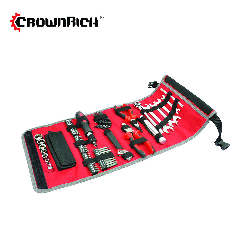 CROWNRICH 70 pcs Basic Thuis Tool Set met Tool Bag 186 pcs tool set