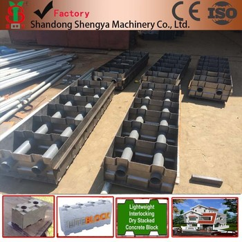 Light Weight Foam Concrete Block Making Mould Manual Form