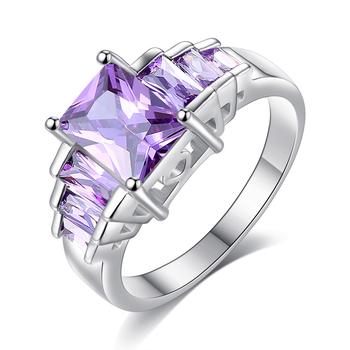 bague diamant violet