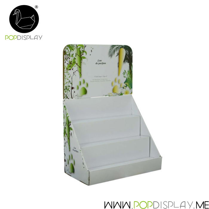 Fast Deliver Cardboard Shipper Paper Package Pdq Display Stand Cosmetic