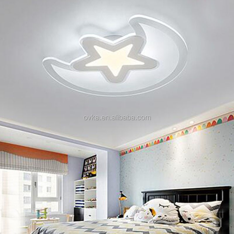 surtidor de china estrella luna llevado lmparas de techo para sala de nios