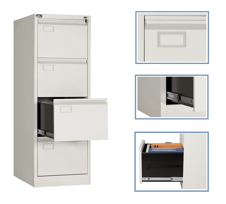 Metal Customized Metal Filing Cabinet 4 Drawers Cabinet