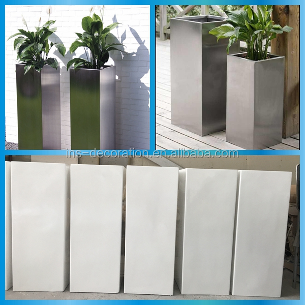 Garden decoration tall planter