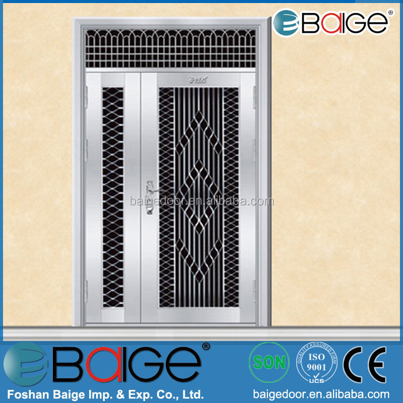 Bg Ss9051 Main Gate Stainless Steel Safety Door With Grill