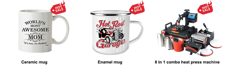 MIDA promotional cheap white enamel camping coffee mug sublimation custom enamel mug