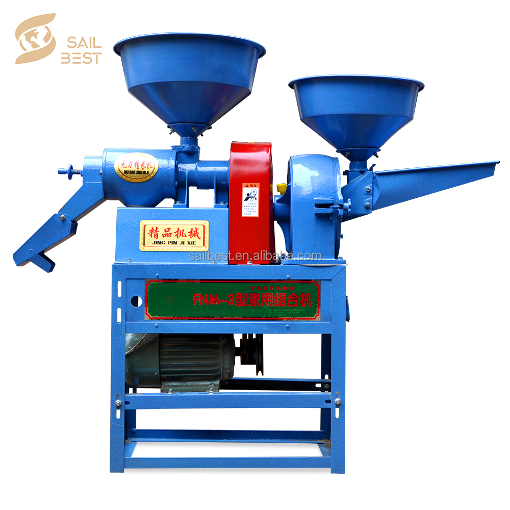 Hot sale rice mill machine price philippines/rice huller with grinder/crusher/pulverizer