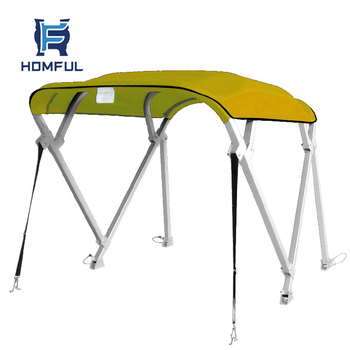 4 Bow Square Tube Boat Sun Canopy Cover Bimini Top Tent With ...