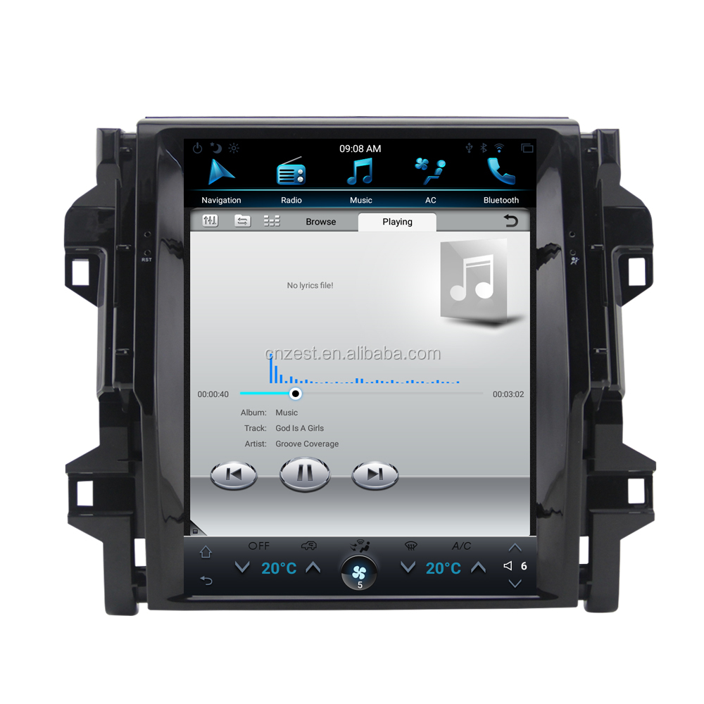 ZESTECH 12.1inch Android Vertical Tesla Screen for Toyota Fortuner 2016-2019 Car Radio GPS System Accessories
