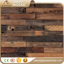 Clásica superficie irregular mosaico decoración de madera panel de pared de mosaico