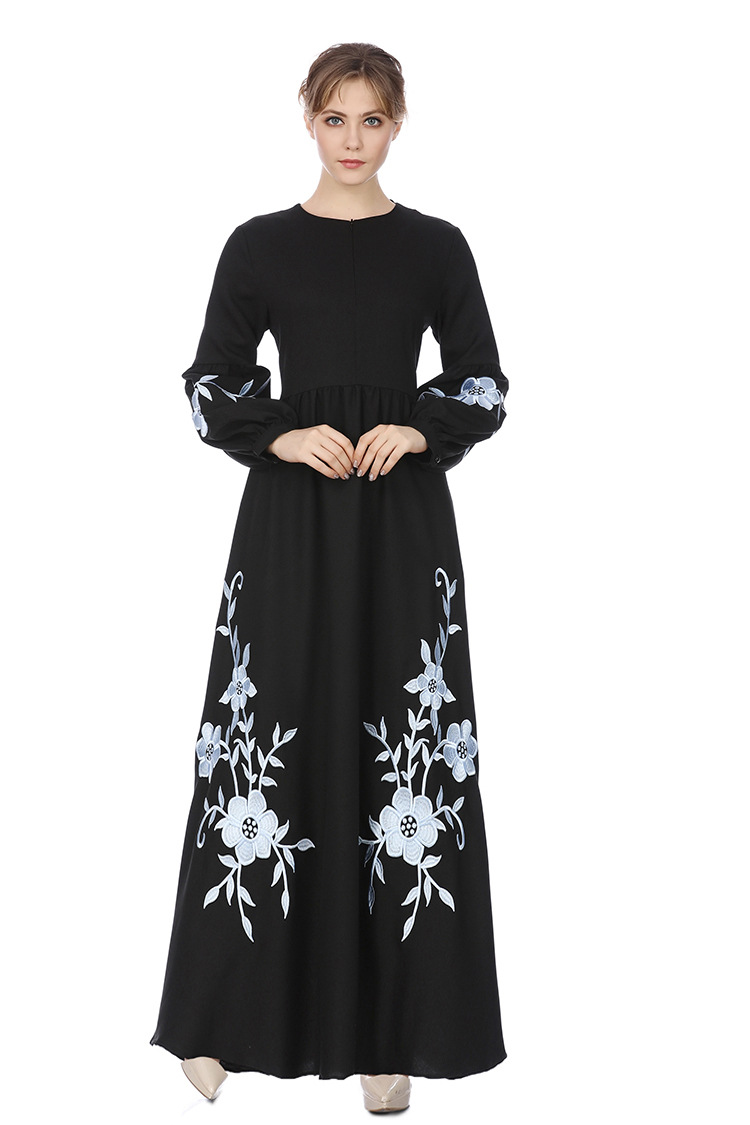 Latest Gown Evening Dress, Black Abaya Gown