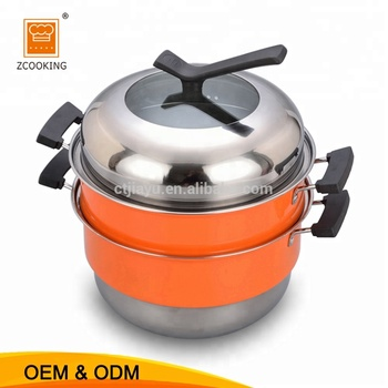 Biryani Cooking Pot With Red Color Electric Food Steamer Pot