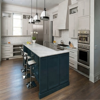 Modern High Gloss Lacquer With Island Kitchen Cabinet Buy High