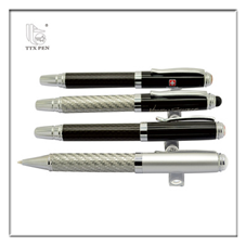stationery set for man,special engraving logo metal carbon fibre gift pen