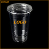 disposable 32oz clear plastic cup pet cup with lid
