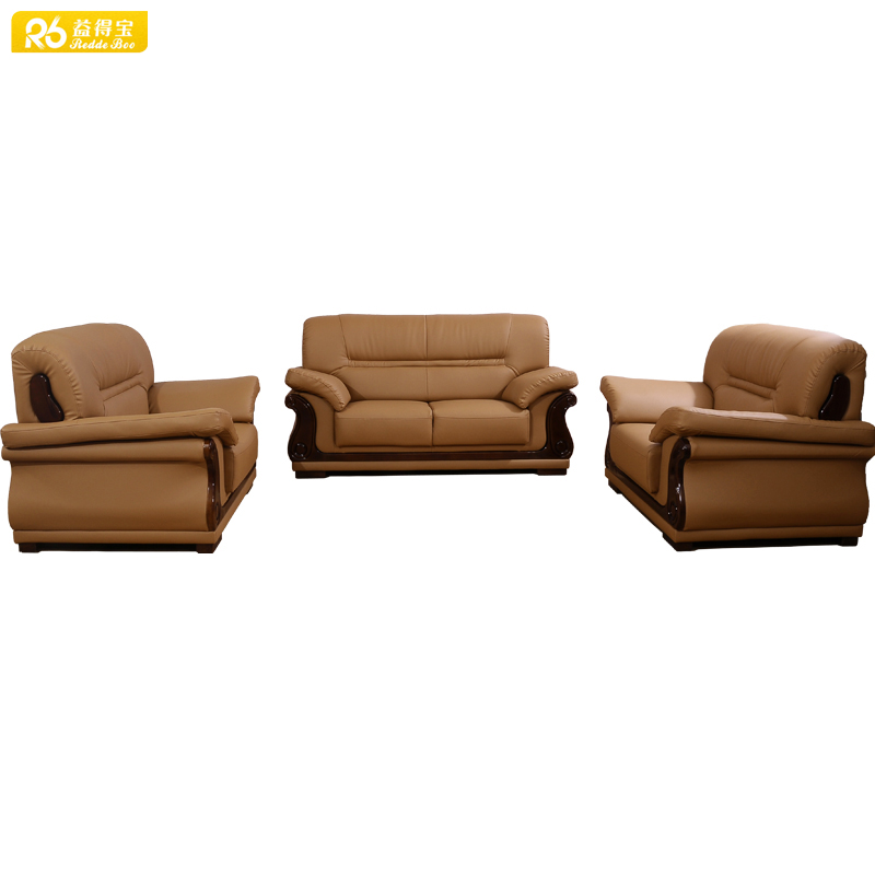 Sofa with wooden legs, home furniture solid wooden frame sofa