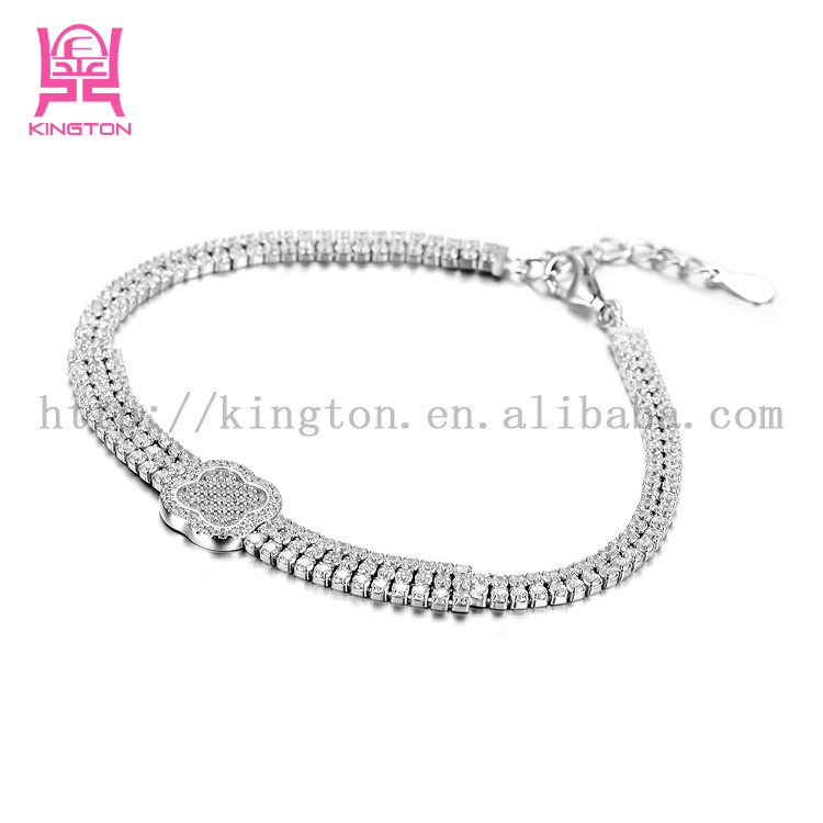 diamond 925 sterling silver tennis bracelets with tennis ball