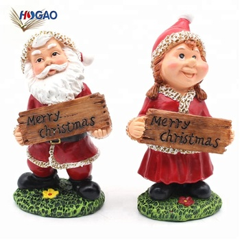 Cute Santa Claus And Little Girl Polyresin Crafts Garden Decoration  Supplies Christmas Gnome For Holiday Traditions